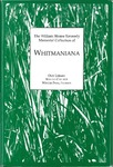 The William Sloane Kennedy Memorial Collection of Whitmaniana