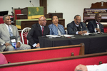 Opening plenary session at St. Lawrence of Johnny L. Ford, Edward R. Jones, Alberta McCrory, Darryl Johnson, and Eddie Cole