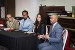 Opening plenary session at St. Lawrence of Fon L. Gordon, Dr. Ibram X. Kendi, Dr. Elizabeth Hinton, and Dr. Khalil Gibran Muhammad