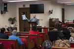 Opening plenary session at St. Lawrence of Dr. Khalil Gibran Muhammad, Dr. Julian Chambliss, and Dr. Eleanor W. Traylor