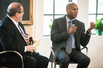 Plenary session at Rollins of Charles M. Blow and Ben Brotemarkle
