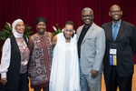 """Group picture at Rollins of N.Y. Nathiri, Harietta S. Finley, Dr. Eleanor W. Traylor, Winfred """"Chad"""" McKendrick, and Dr. Julian Chambliss"""