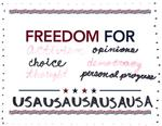 Freedom for Activism, Choice, Opinions, Democracy, Progress by Anonymous Patron Olin Library